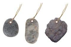 Πέτρες ετικετών ετικεττών Στοκ εικόνα με δικαίωμα ελεύθερης χρήσης
