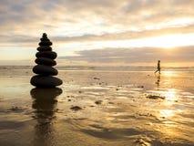Πέτρες θάλασσας που συσσωρεύονται Στοκ Φωτογραφίες