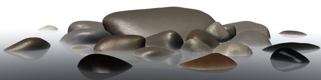 Πέτρες θάλασσας στην ομίχλη Στοκ εικόνες με δικαίωμα ελεύθερης χρήσης