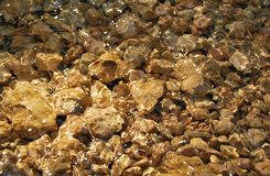 πέτρες κάτω από το ύδωρ Στοκ Εικόνα