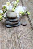 Πέτρες και orchid Zen Στοκ εικόνα με δικαίωμα ελεύθερης χρήσης