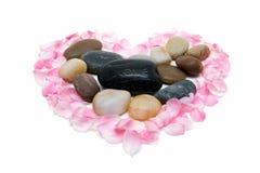 πέτρες πετάλων που περιβά&lam Στοκ φωτογραφία με δικαίωμα ελεύθερης χρήσης
