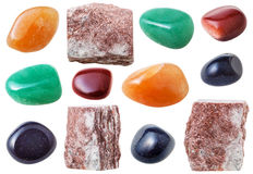 Πέτρες πολύτιμων λίθων Aventurine, βράχοι και πολύτιμοι λίθοι aventurine Στοκ Εικόνα
