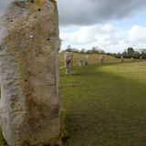 Πέτρες στον αρχαίο κύκλο Avebury Στοκ Εικόνες