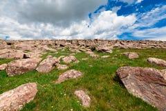 Πέτρες στο υποστήριγμα Aragats, Αρμενία Στοκ Εικόνα