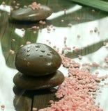 πέτρες σύνθεσης λουτρών salts  Στοκ Φωτογραφία