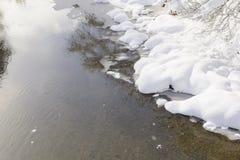 Πέτρες χιονιού πάγου βουνών ποταμών Στοκ εικόνα με δικαίωμα ελεύθερης χρήσης