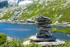 Πέτρες ύφους της Zen Στοκ Εικόνες