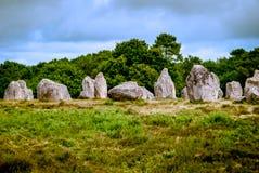 Πέτρες Carnac, Βρετάνη, Γαλλία στοκ εικόνες