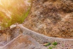Πέτρινα διάβαση και βουνά Nep Στοκ Εικόνες
