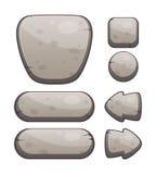 Πέτρινα κουμπιά για το σχέδιο Ιστού ή παιχνιδιών Στοκ Εικόνες