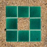 Πέτρινα πράσινα κεραμίδια κεραμιδιών Στοκ Εικόνα