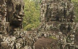 Πέτρινα πρόσωπα, ναός Bayon, Καμπότζη Στοκ φωτογραφία με δικαίωμα ελεύθερης χρήσης