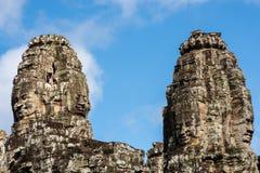 Πέτρινα πρόσωπα στο ναό Bayon σε Angkor Thom, Καμπότζη Στοκ εικόνα με δικαίωμα ελεύθερης χρήσης