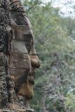 Πέτρινα πρόσωπα στο ναό Bayon, Angkor Wat, Καμπότζη Στοκ Φωτογραφίες