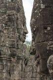 Πέτρινα πρόσωπα στο ναό Bayon, Angkor Wat, Καμπότζη Στοκ φωτογραφία με δικαίωμα ελεύθερης χρήσης