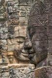 Πέτρινα πρόσωπα στο ναό Bayon, Angkor Wat, Καμπότζη Στοκ εικόνες με δικαίωμα ελεύθερης χρήσης