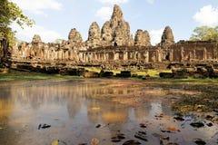 Πέτρινα πρόσωπα του Βούδα, ναός Bayon, Angkor, Καμπότζη Στοκ Φωτογραφίες