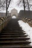 Πέτρινα σκαλοπάτια που οδηγούν στη βασιλική του ST Anne στο υποστήριγμα ST Στοκ φωτογραφίες με δικαίωμα ελεύθερης χρήσης