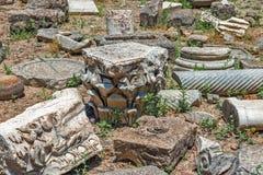 Πέτρινα τεμάχια στη archeological περιοχή της Καρύταινας, Κρήτη, Ελλάδα Στοκ φωτογραφία με δικαίωμα ελεύθερης χρήσης