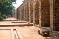 Πέτρινες αψίδες στον τάφο Humayun στο Δελχί, Ινδία Στοκ Φωτογραφίες
