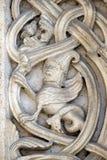 Πέτρινες γλυπτικές, καθεδρικός ναός της Μοντένας, Ιταλία στοκ εικόνες με δικαίωμα ελεύθερης χρήσης