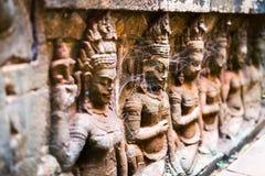 Πέτρινες γλυπτικές σε Angkor Στοκ Φωτογραφίες