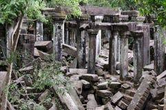 Πέτρινες καταστροφές του ναού Beng Mealea, Angkor Wat, Καμπότζη Στοκ Φωτογραφία
