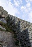 Πέτρινες καταστροφές Machu Picchu Περού Νότια Αμερική Inca εργασιών στοκ εικόνες με δικαίωμα ελεύθερης χρήσης