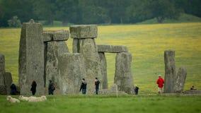 Πέτρινες μονολιθικές πέτρες Αγγλία henge απόθεμα βίντεο