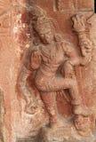 Πέτρινες bas-ανακουφίσεις στους τοίχους ο σύνθετος λόφος Hemakuta ναών σε Hampi, Karnataka, Ινδία στοκ φωτογραφίες