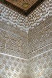 Πέτρινη ανακούφιση με τα arabesques, Alhambra, Ισπανία Στοκ εικόνα με δικαίωμα ελεύθερης χρήσης