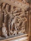 Πέτρινη ανακούφιση, τιμωρία Arjuna, Mahabalipuram, Ινδία Στοκ φωτογραφία με δικαίωμα ελεύθερης χρήσης