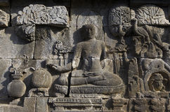 Πέτρινη ανακούφιση, Borobudur Στοκ Εικόνες