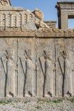 Πέτρινη γλυπτική σε Persepolis Στοκ Φωτογραφίες