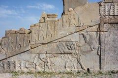 Πέτρινη γλυπτική σε Persepolis Στοκ Εικόνες