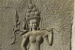 Πέτρινη γλυπτική, Angkor Wat, Καμπότζη Στοκ Εικόνες