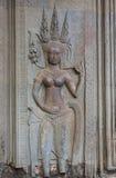 Πέτρινη γλυπτική Angkor Wat, Καμπότζη Στοκ εικόνες με δικαίωμα ελεύθερης χρήσης