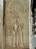 Πέτρινη γλυπτική Angkor Wat, Καμπότζη Στοκ φωτογραφία με δικαίωμα ελεύθερης χρήσης