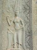 Πέτρινη γλυπτική Angkor Wat Στοκ φωτογραφία με δικαίωμα ελεύθερης χρήσης