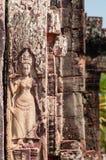 Πέτρινη γλυπτική Apsara στο ναό Στοκ Εικόνα