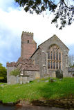 Πέτρινη εκκλησία προσόψεων σε Ashprington Devon Αγγλία Στοκ φωτογραφία με δικαίωμα ελεύθερης χρήσης