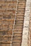 Πέτρινη διάταξη θέσεων θεάτρων στις αρχαίες καταστροφές Στοκ φωτογραφίες με δικαίωμα ελεύθερης χρήσης