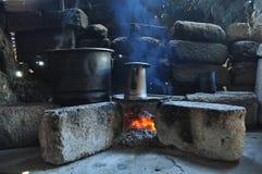 Πέτρινη κουζίνα στο αγροτικό Μεξικό Στοκ εικόνες με δικαίωμα ελεύθερης χρήσης