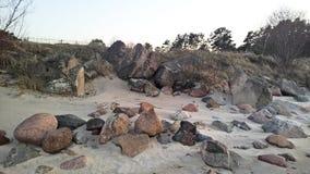 Πέτρινη παραλία Στοκ Εικόνες
