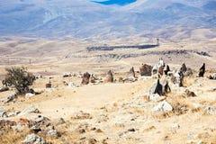 Πέτρινη προϊστορία Zorats Karer κύκλων στην Αρμενία Στοκ εικόνα με δικαίωμα ελεύθερης χρήσης