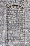 Πέτρινη πόρτα σύστασης τοίχων Στοκ εικόνα με δικαίωμα ελεύθερης χρήσης