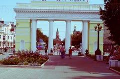 Πέτρινη πύλη στο τετράγωνο Yoshkar-Ola 2018 στοκ φωτογραφίες