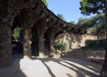 Πέτρινη στοά Antonio Gaudi Στοκ Εικόνες