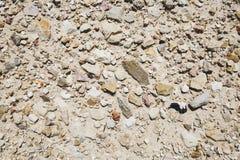 Πέτρινη σύσταση ή σύσταση βράχου στη φυσική θέση Στοκ εικόνα με δικαίωμα ελεύθερης χρήσης
